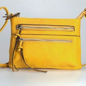 Handbags - Mustard Mini Crossbody